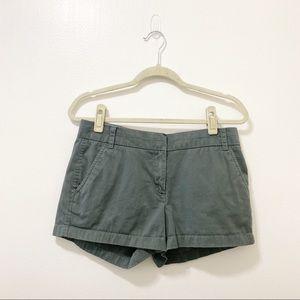"J Crew Olive Green 3 ""Chino Shorts Size 6"